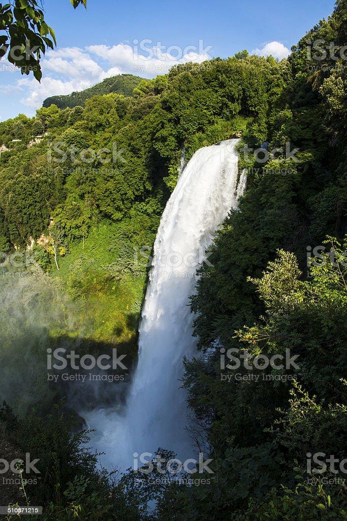 Waterfalls of Marmore Lush, Italy stock photo