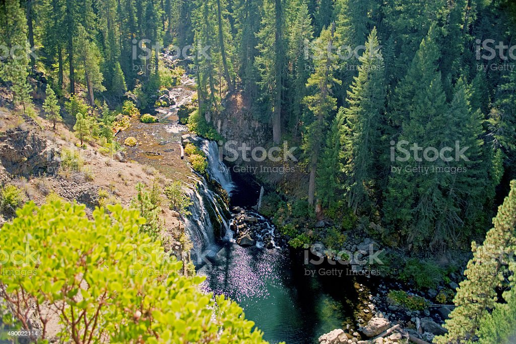 Waterfalls of the McCloud River stock photo