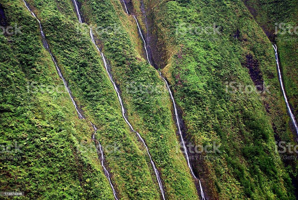 Waterfalls of Waialeale royalty-free stock photo