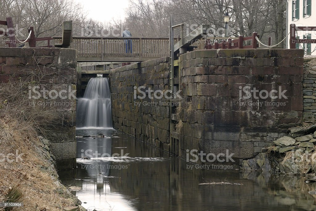 Waterfalls on Canal stock photo