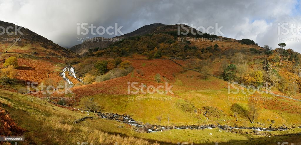 Waterfalls on Snowdon royalty-free stock photo