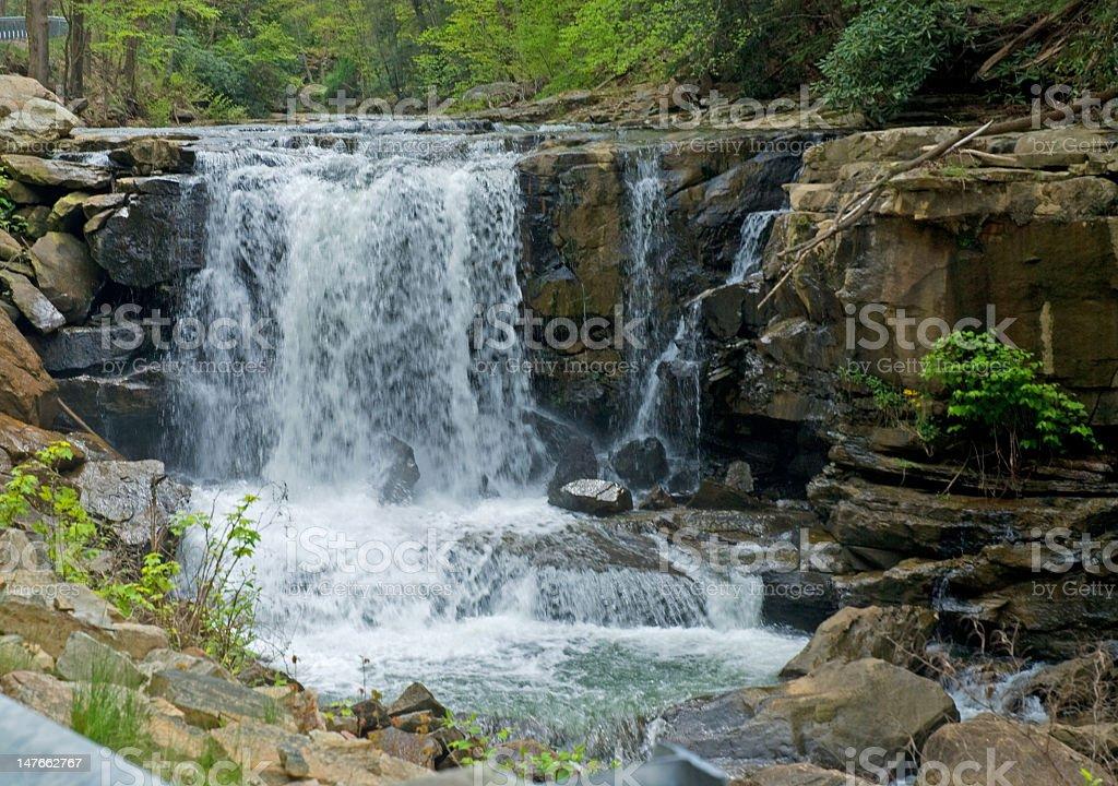 Waterfalls on the Rocks royalty-free stock photo