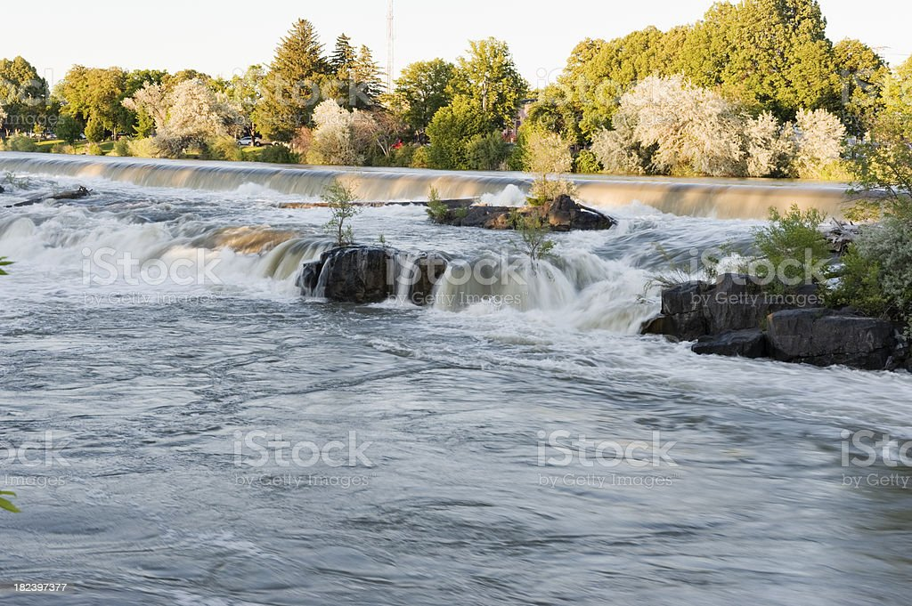 Waterfalls on the Snake royalty-free stock photo