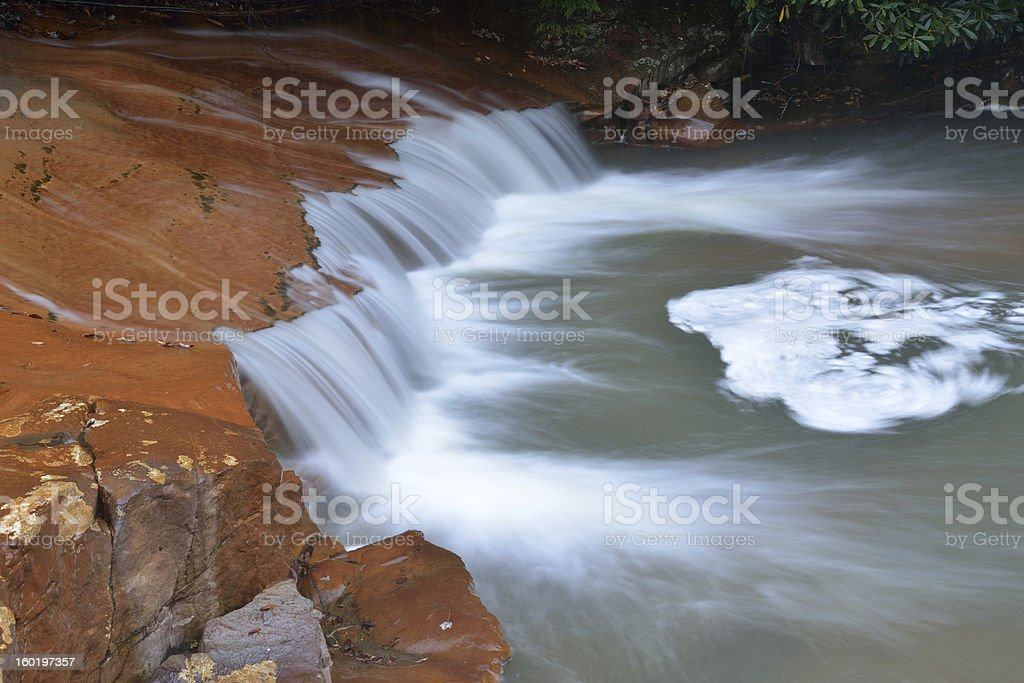 Waterfalls over Red Rocks royalty-free stock photo