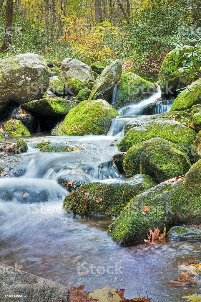 Waterfalls, Roaring Fork, Great Smoky Mountains, Gatlinburg, Tennessee, USA royalty-free stock photo