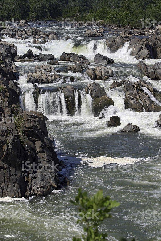 Waterfalls, Rushing River royalty-free stock photo