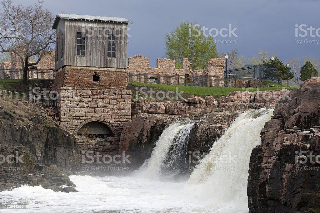 Waterfalls - Sioux Falls royalty-free stock photo