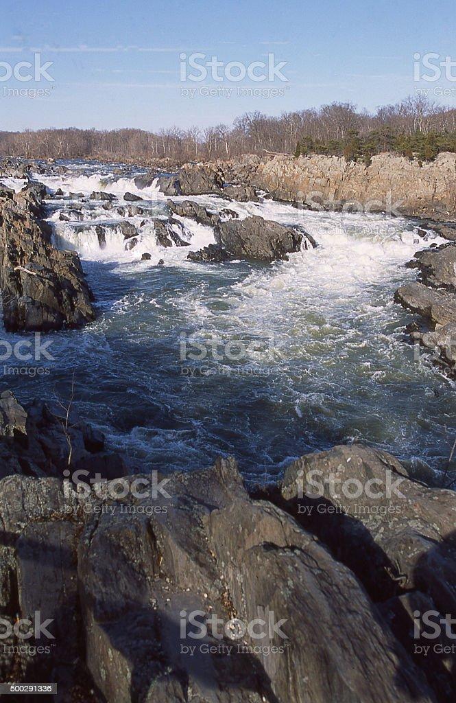 waterfalls white water Great Falls Park Potomac River McLean Virginia stock photo