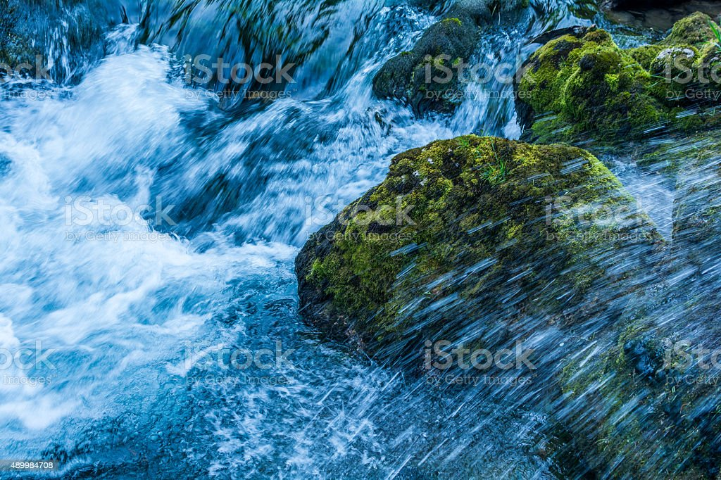 Waterfalls with Rocks in it stock photo