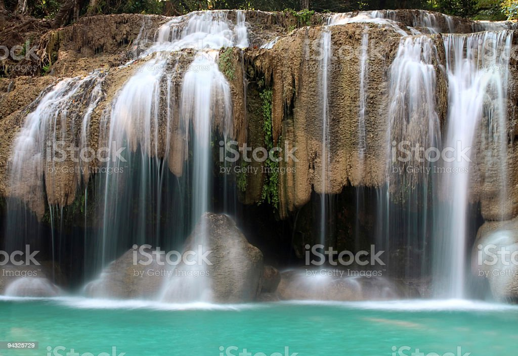 Waterfalls with shallow water royalty-free stock photo