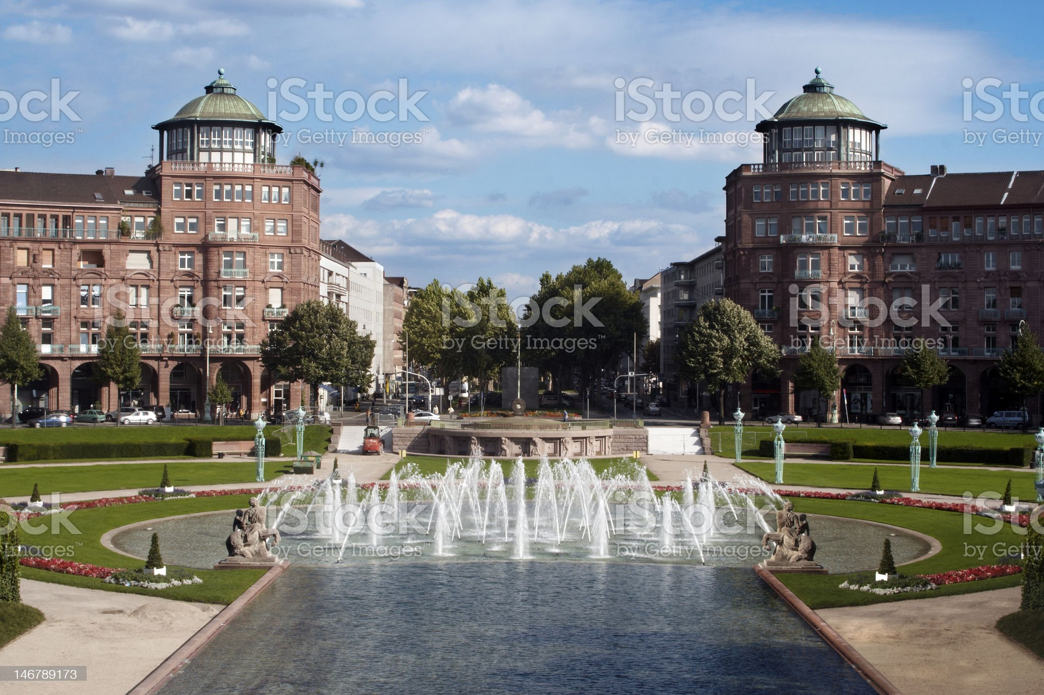 WaterFontains in a Park royalty-free stock photo