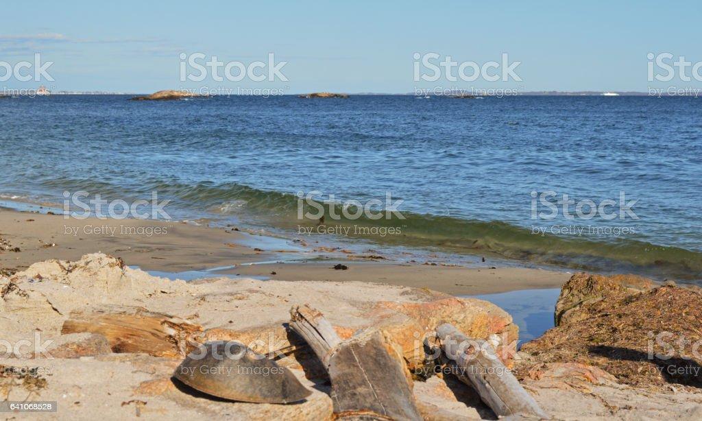 Waterford Beach Scene stock photo