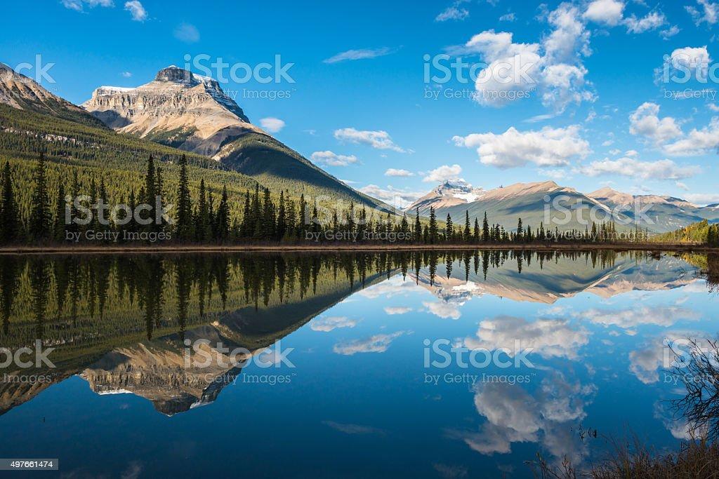 Waterfowl Lake, Banff National Park, Alberta, Canada stock photo