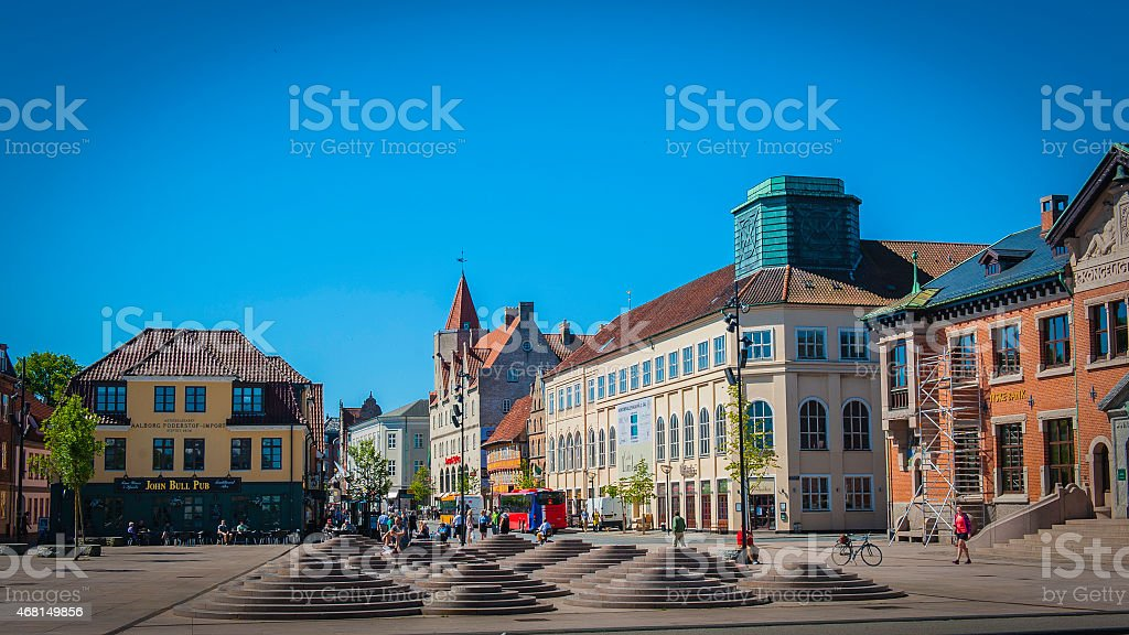 Waterfront, Aalborg, Denmark stock photo