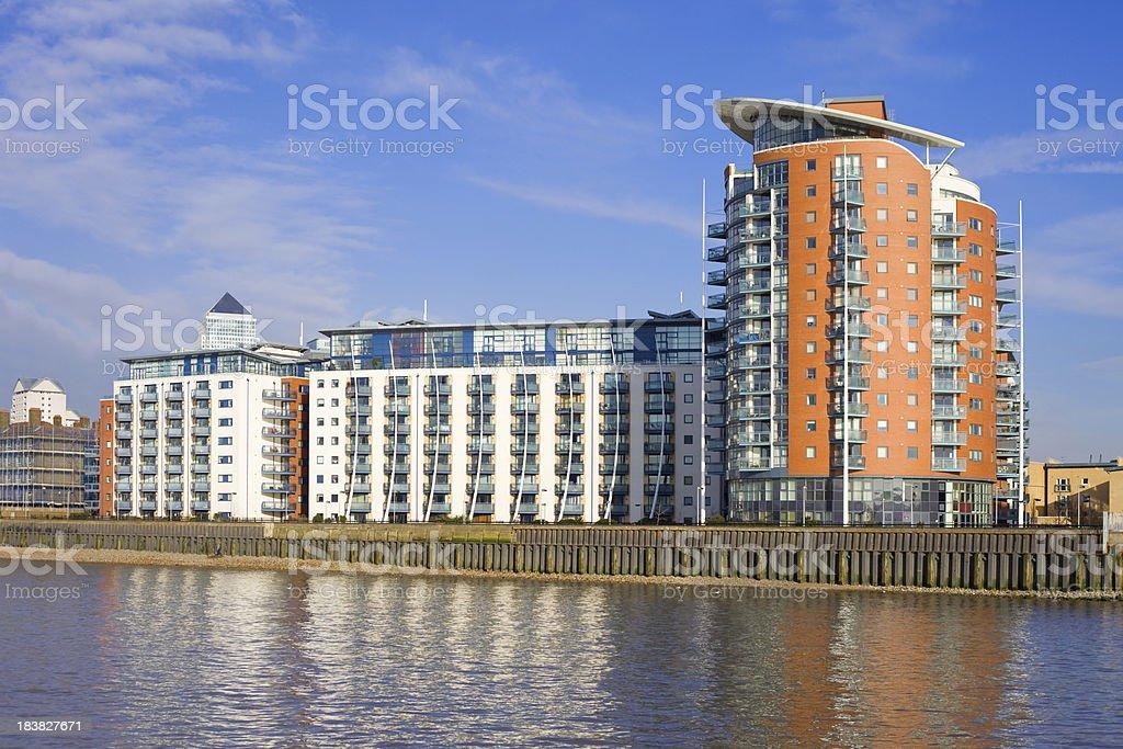 Waterfront Apartments stock photo