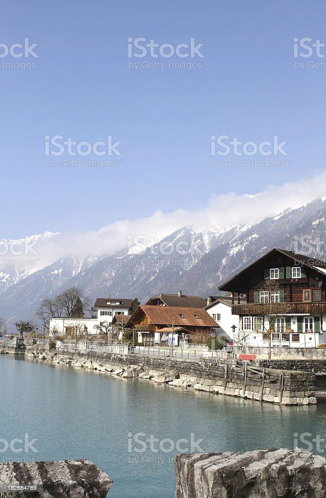 Waterfront at Brienz, Berne Canton, Switzerland royalty-free stock photo