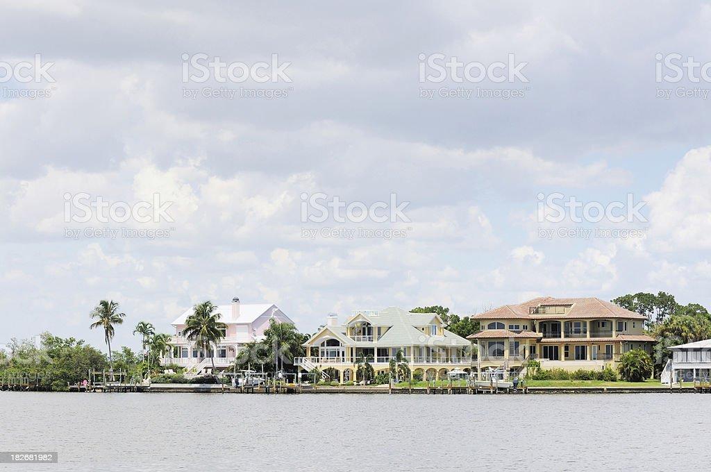 Waterfront Beachfront Luxury Holiday Villas near Sanibel Island Florida stock photo