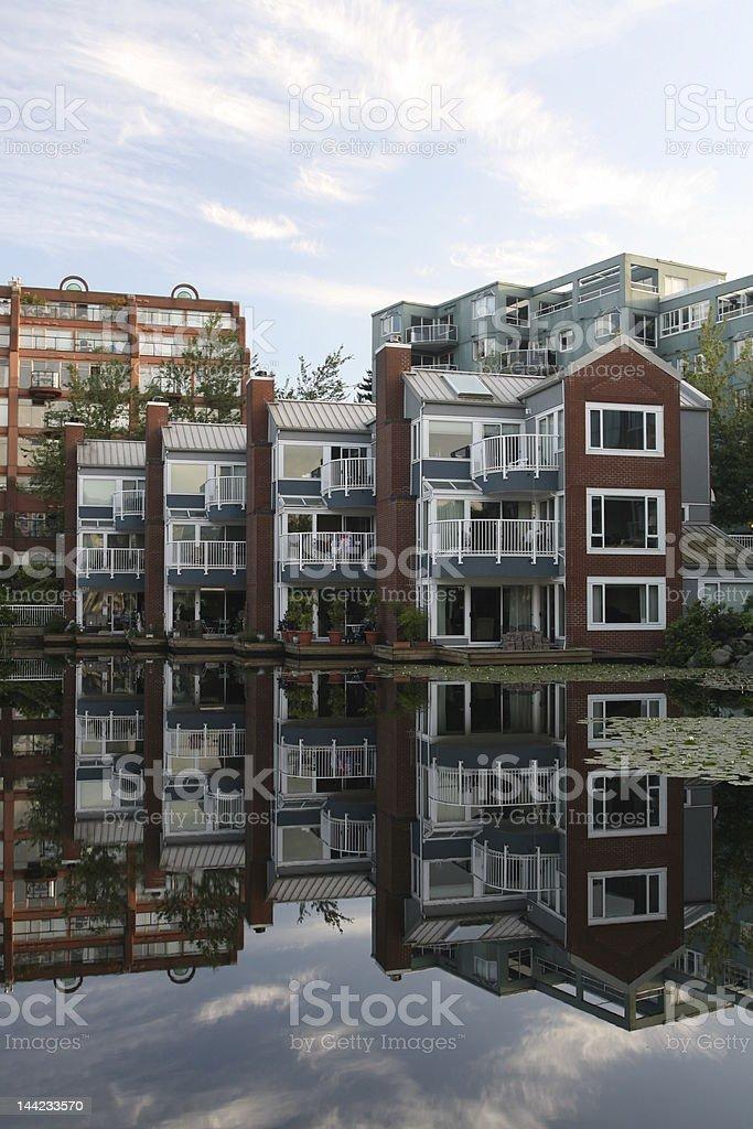 Waterfront Condos royalty-free stock photo