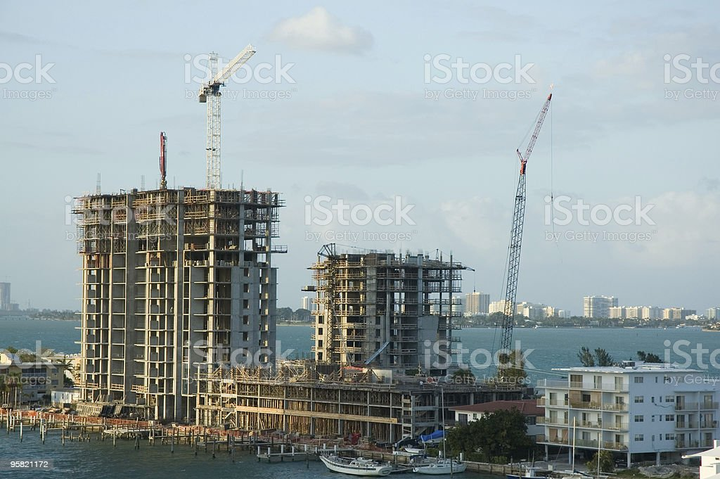 Waterfront Construction stock photo