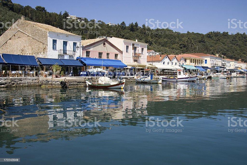 Waterfront Dining at Katakolon Greece royalty-free stock photo