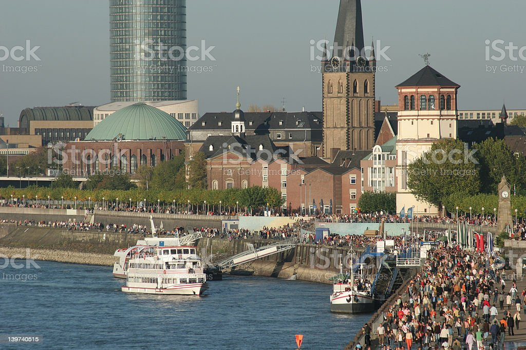 Waterfront Duesseldorf royalty-free stock photo