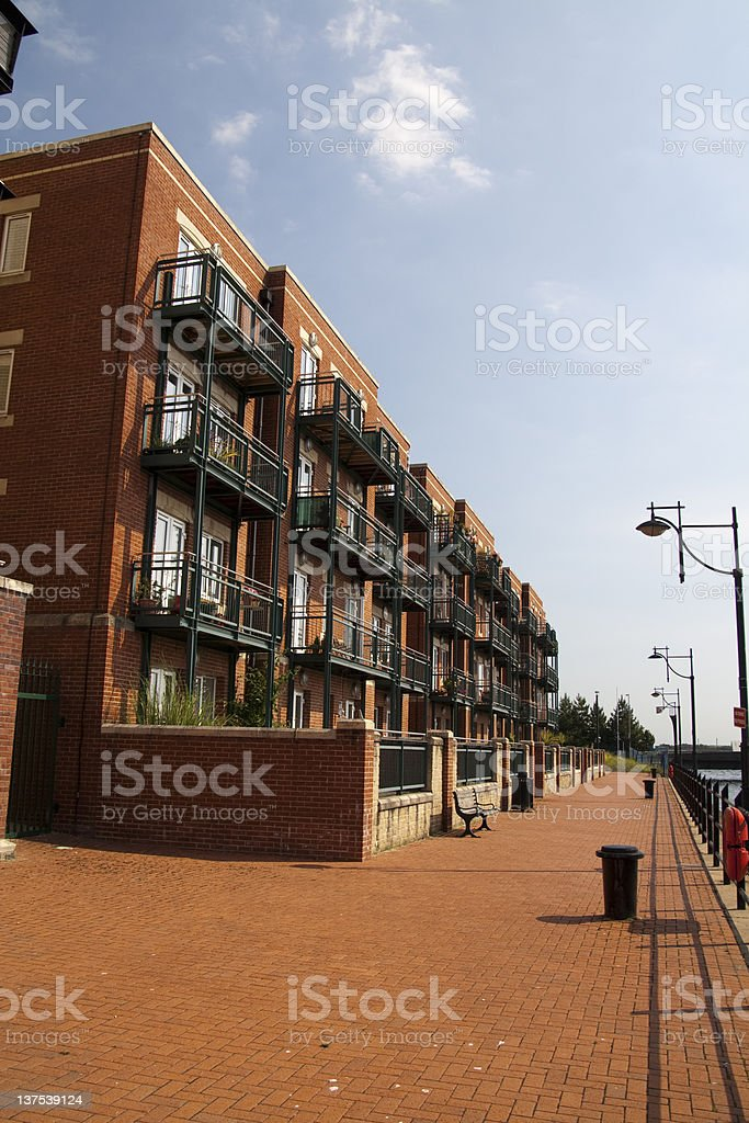 Waterfront flats royalty-free stock photo
