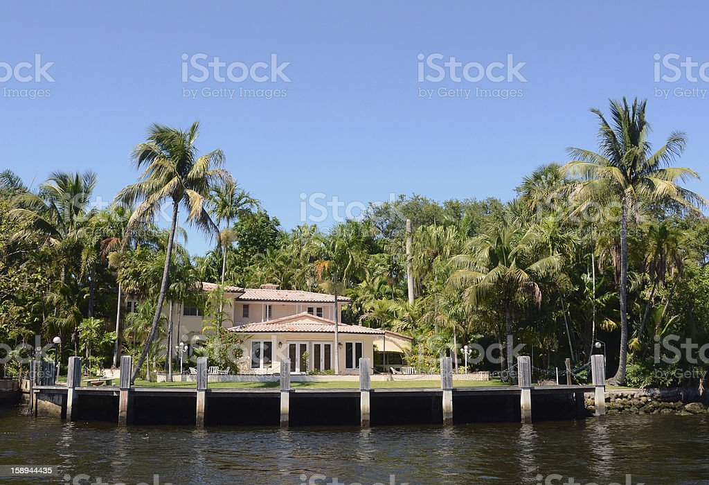 Waterfront home royalty-free stock photo