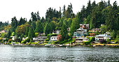 Waterfront homes in Washington State