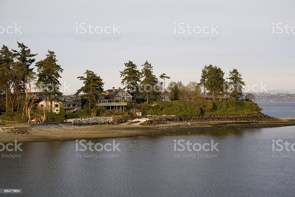 Waterfront Homes near Seattle royalty-free stock photo