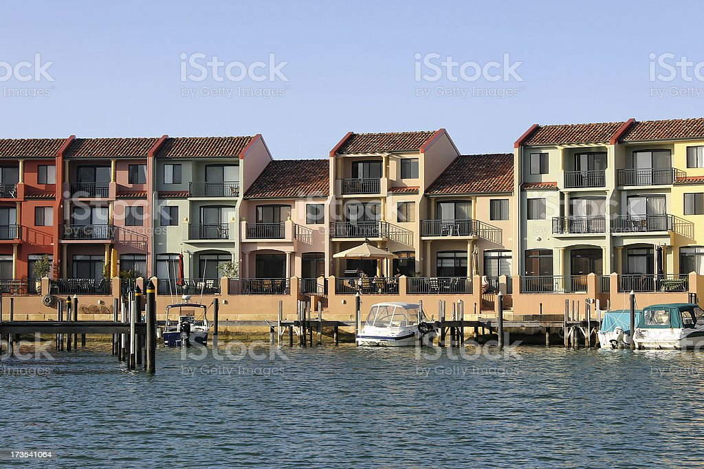 Waterfront Houses 2 royalty-free stock photo