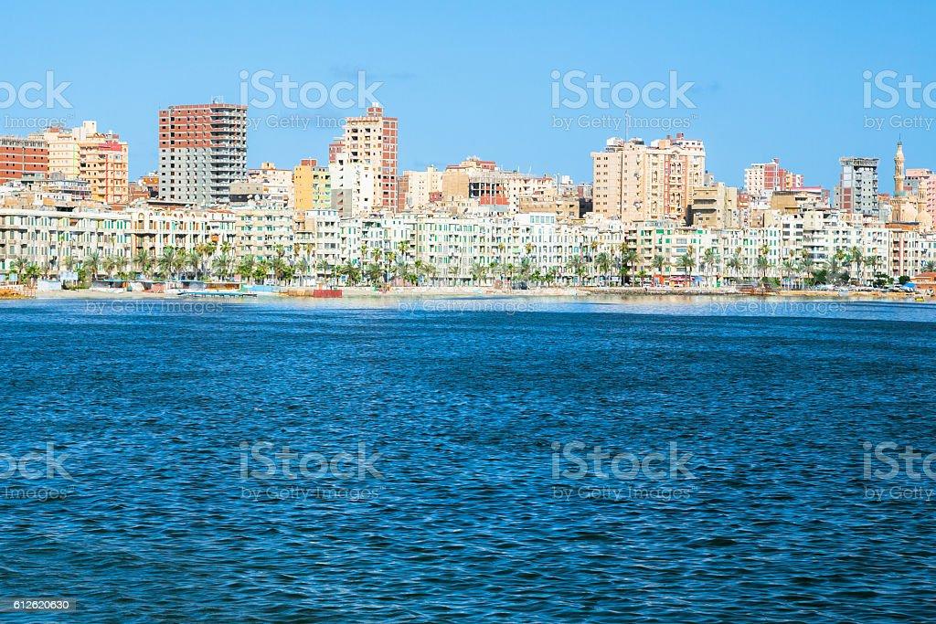 Waterfront in Alexandria, Egypt stock photo