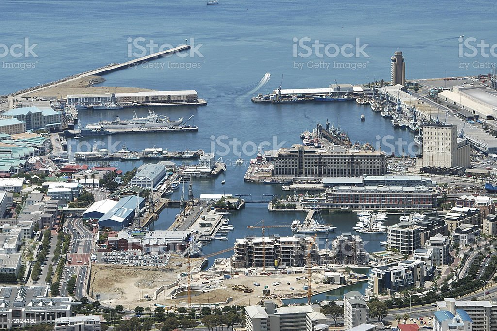 V&A Waterfront in Cape town stock photo