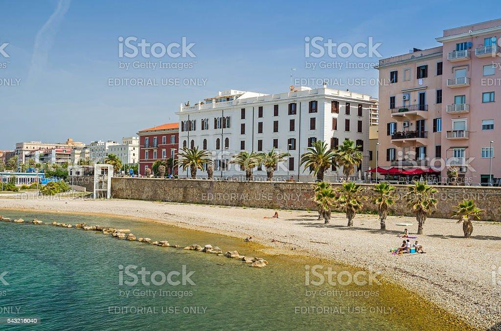 Waterfront in Civitavecchia stock photo