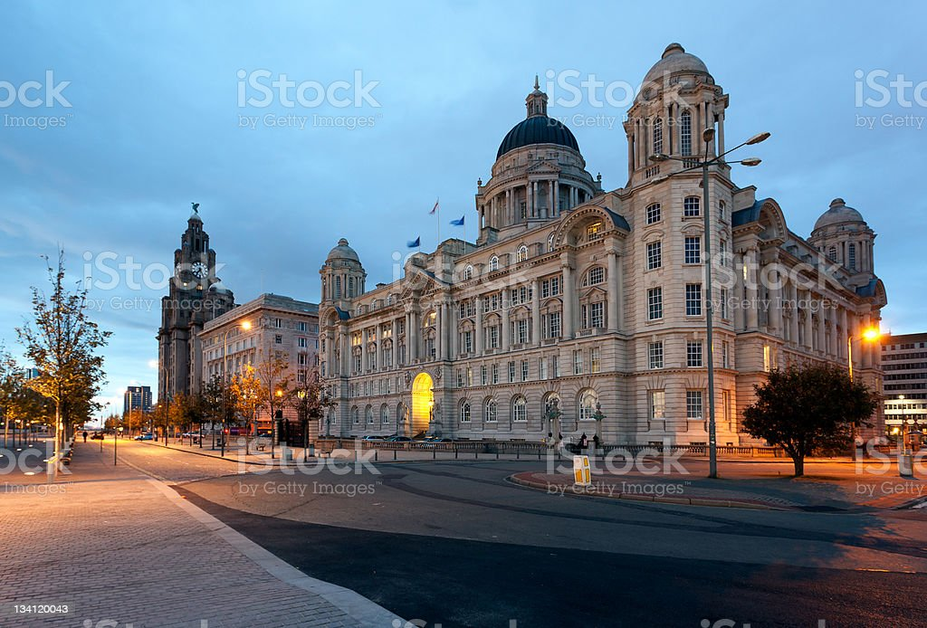 Waterfront in Liverpool stock photo