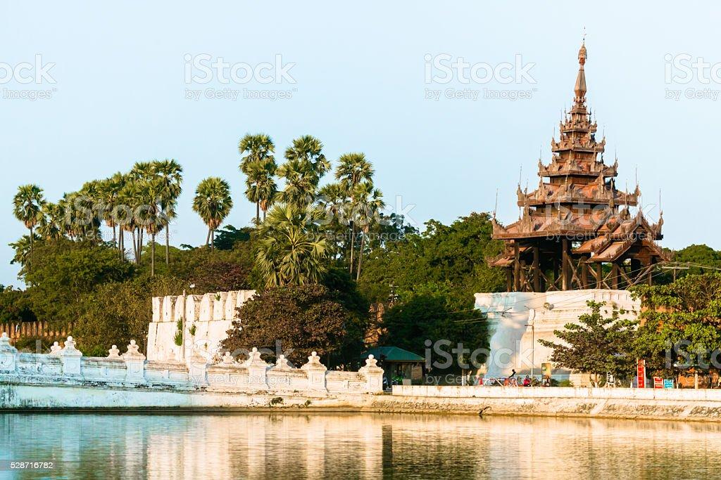 Waterfront in Mandalay, Burma stock photo