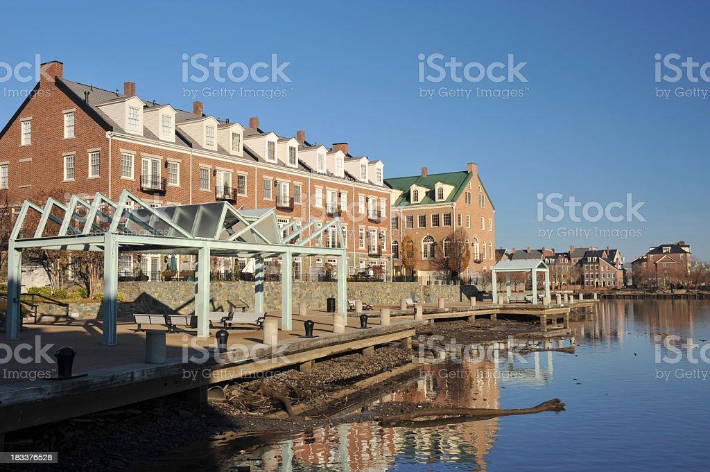 Waterfront Living in Alexandria of Virginia stock photo