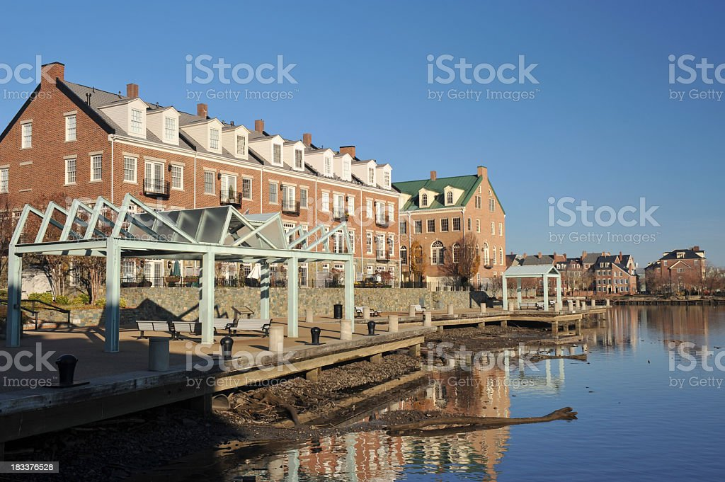 Waterfront Living in Alexandria of Virginia stock photo