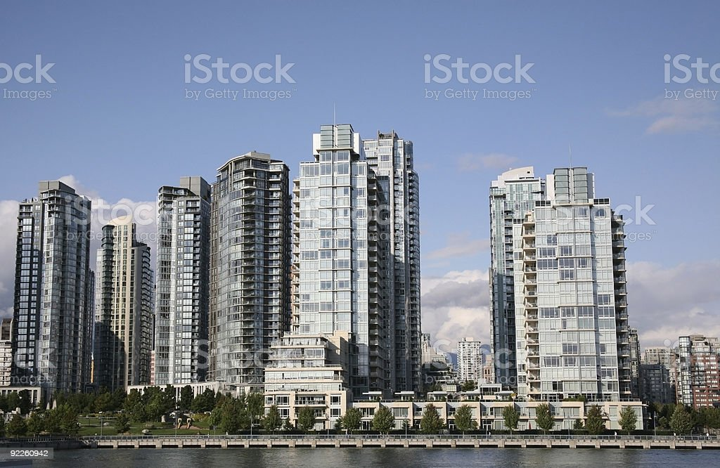 Waterfront Living - Vancouver, British Columbia, Canada royalty-free stock photo