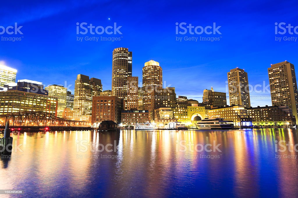 Waterfront of Boston, Massachusetts stock photo