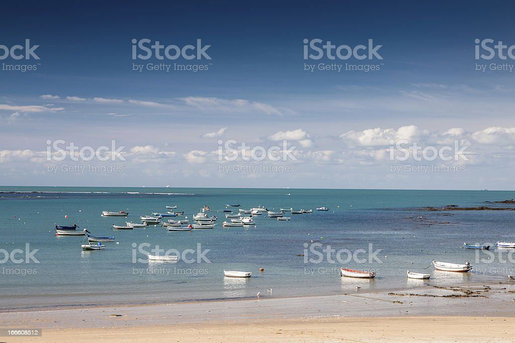 Waterfront of  Cadiz royalty-free stock photo