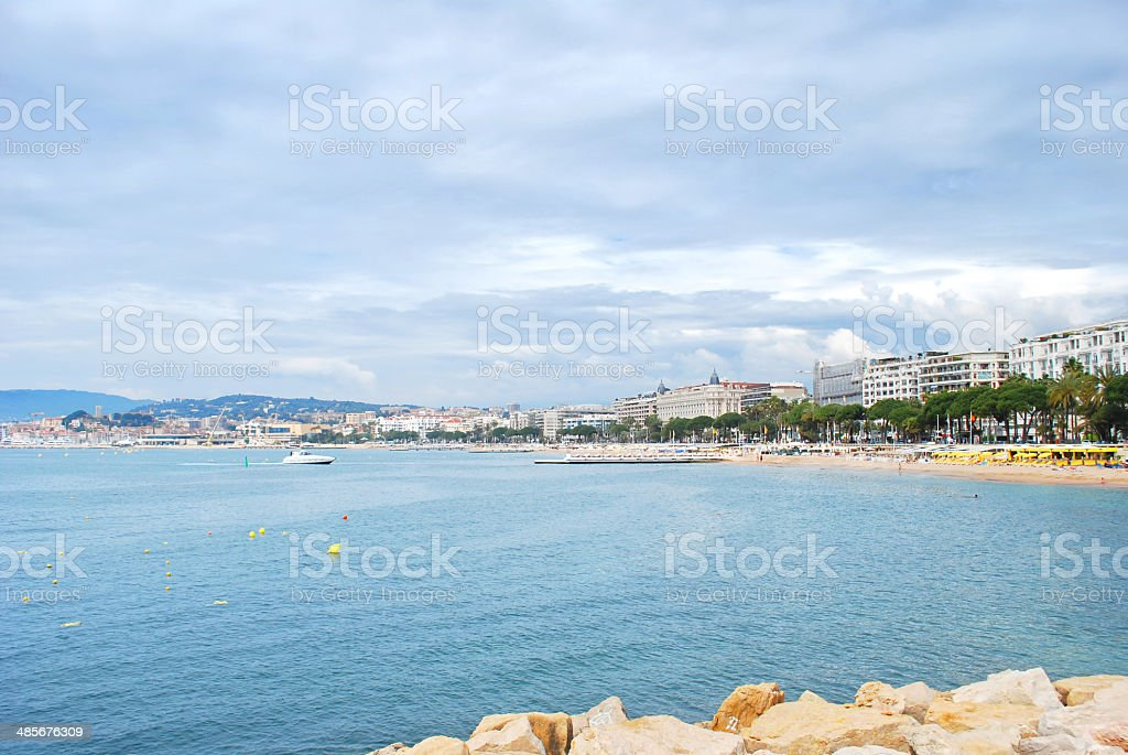 Waterfront of Cannes stock photo