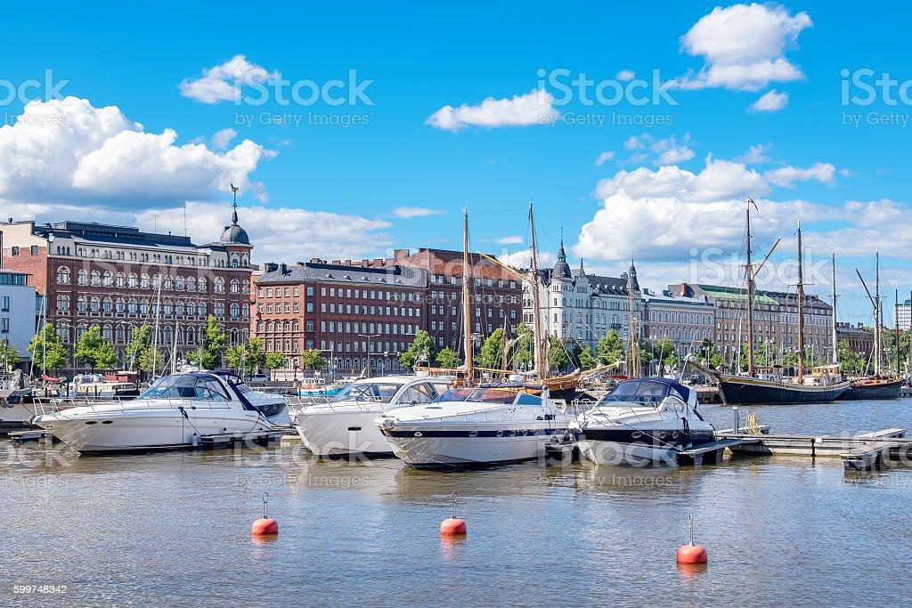 Waterfront of Helsinki. Finland stock photo