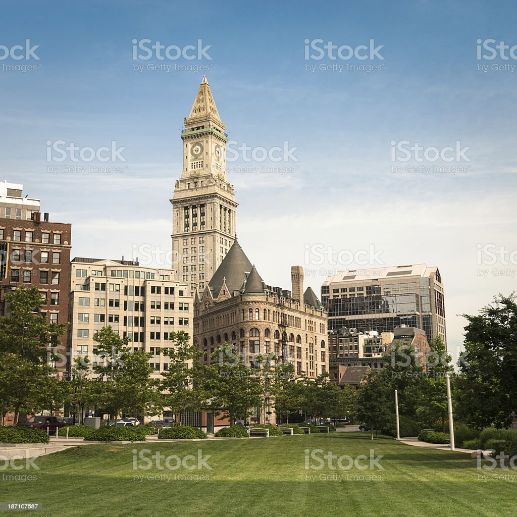 waterfront park in boston royalty-free stock photo