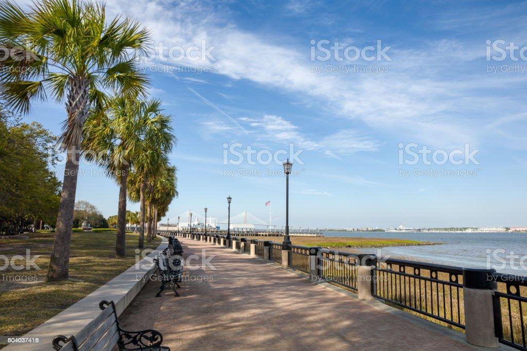 Waterfront Park in Charleston, SC stock photo