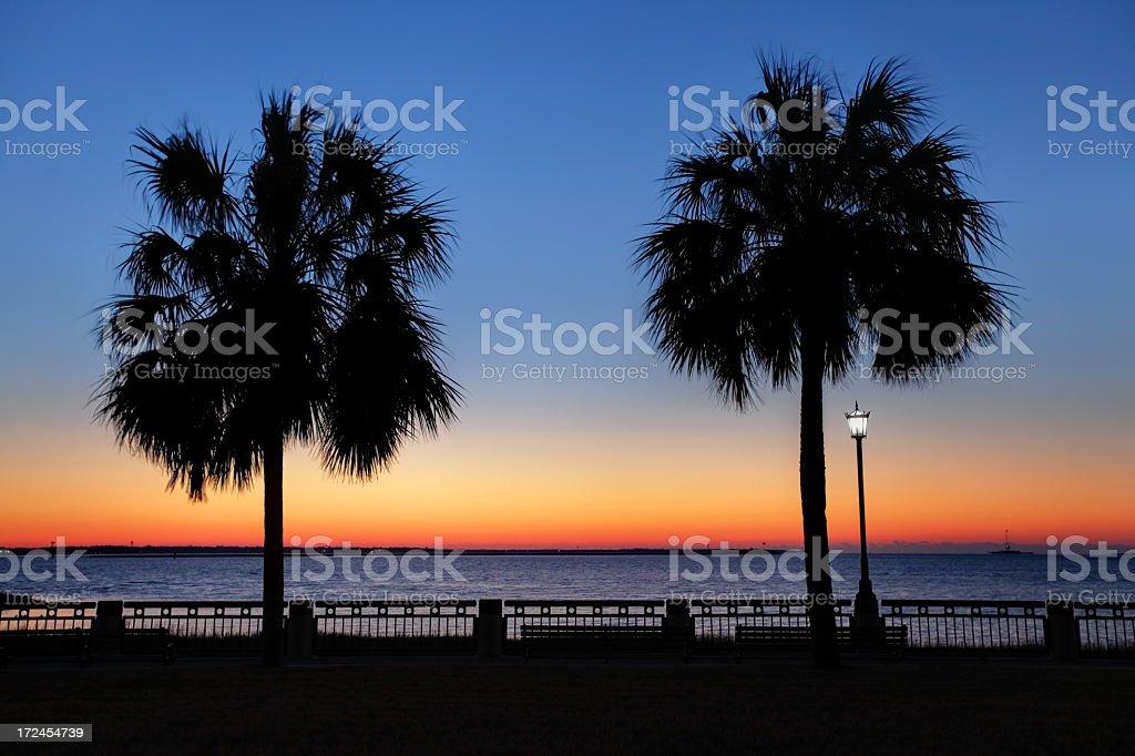 Waterfront Park in Charleston, South Carolina royalty-free stock photo