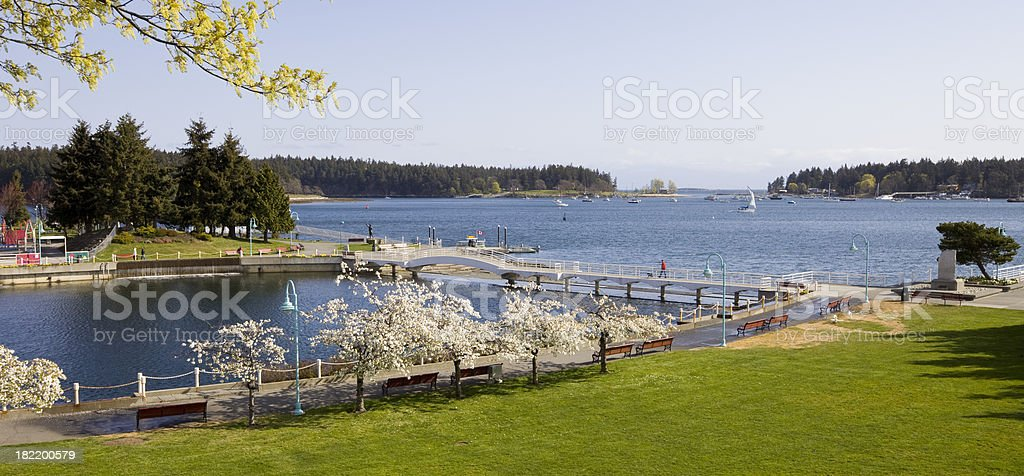 Waterfront Park in Nanaimo royalty-free stock photo