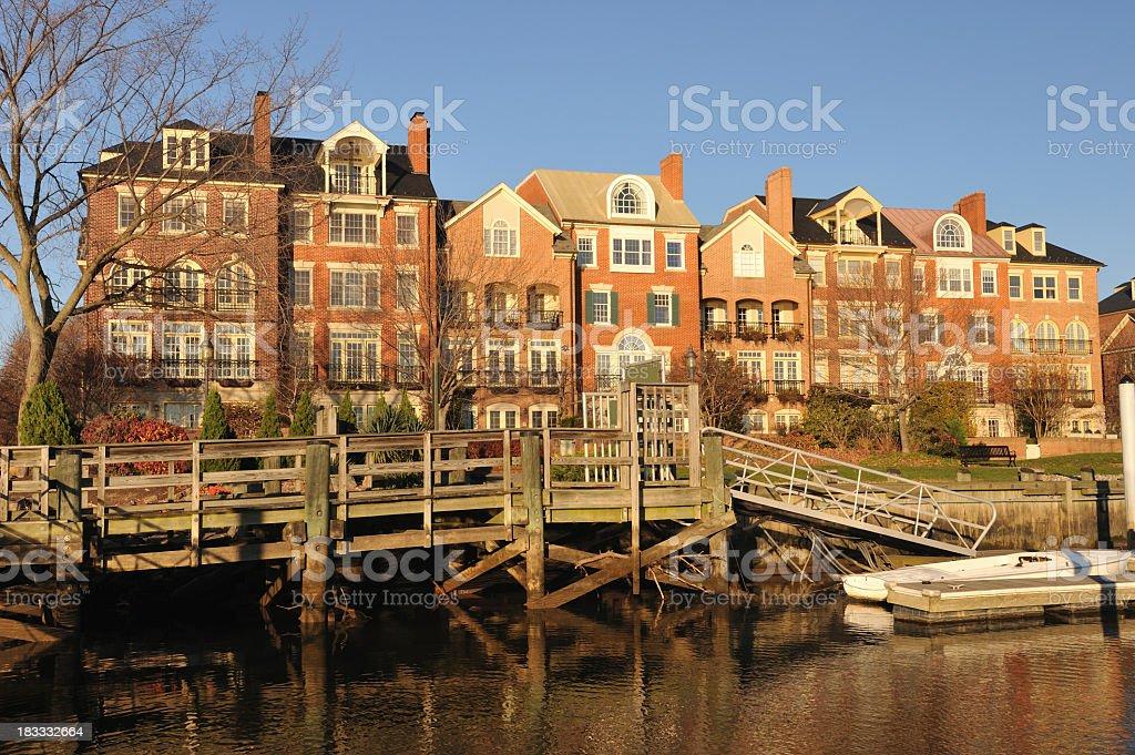 Waterfront Property in Alexandria stock photo