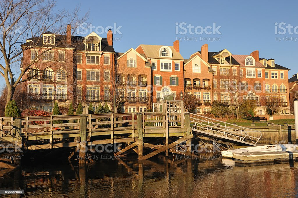Waterfront Property in Alexandria stock photo