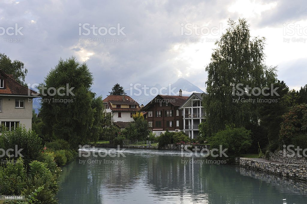 Waterfront Property in Interlaken royalty-free stock photo