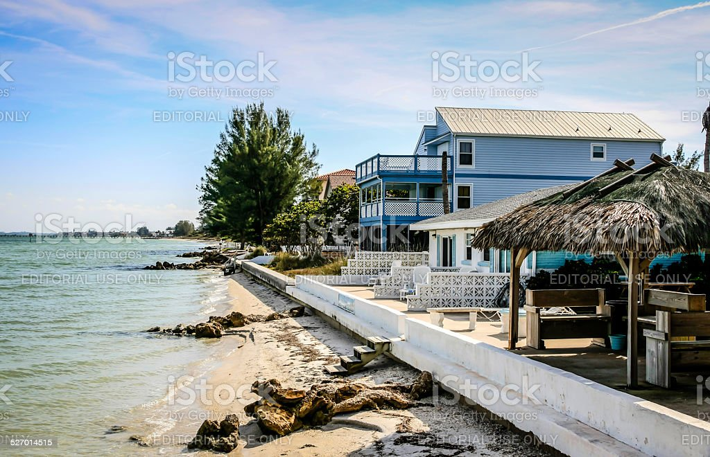 Waterfront property on Anna Maria Island in Florida stock photo